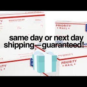 Guaranteed same day or next day shipping!